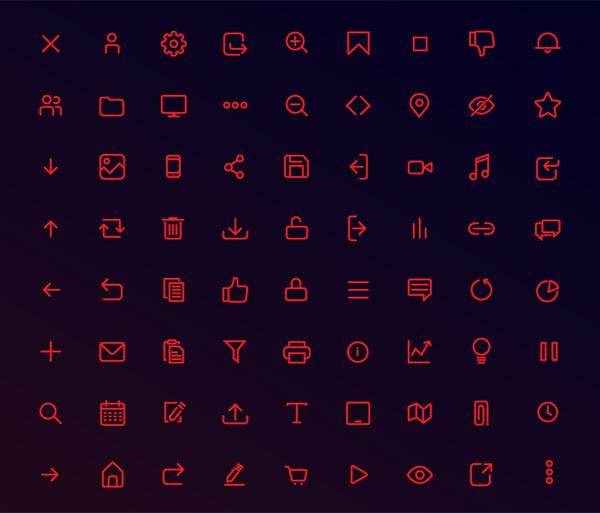 70+ Free Line icons