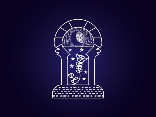Flora Big Eye Logo Design