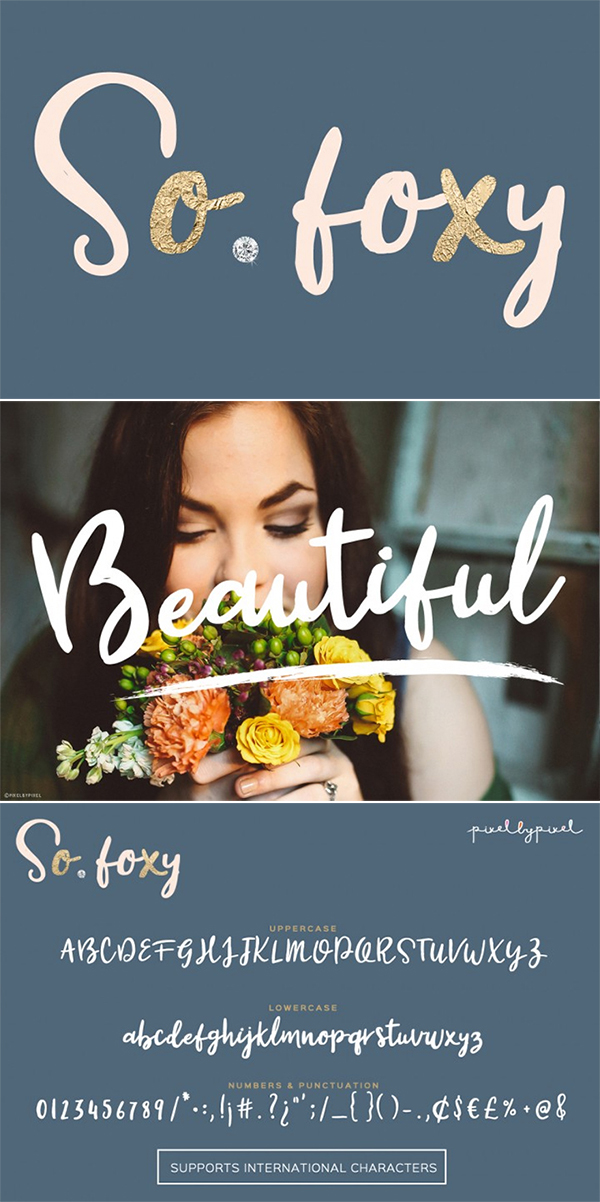 Awesome So Foxy Free Font For Designers