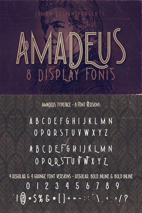 Mejores fuentes manuscritas elegantes para diseñadores - Amadeus - Fuente de visualización