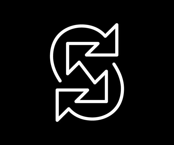 S / Arrow Logo Design