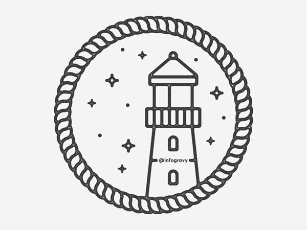 Lighthouse Line Art Logo