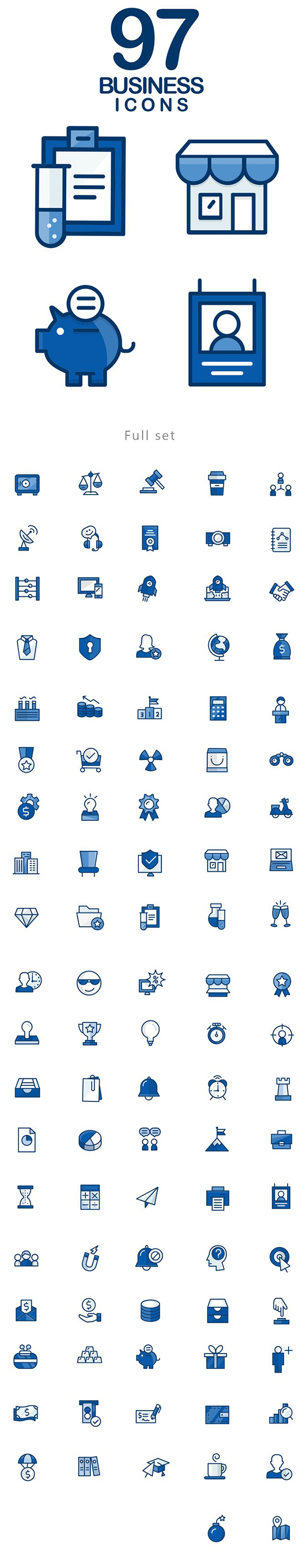 Free 97 Business Icons