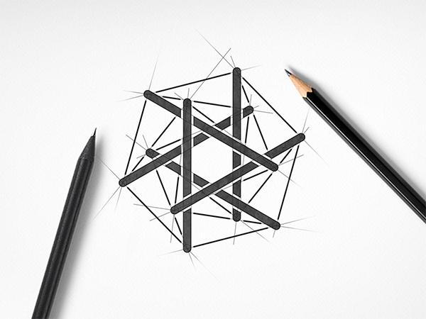 Hexagonal Logo Construction