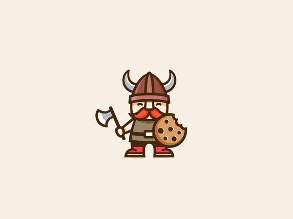 Viking Character Design for Cookie Company