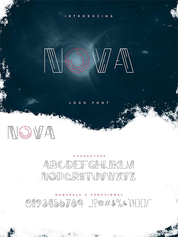 Freebie : Awesome Nova Logo Font For Designers