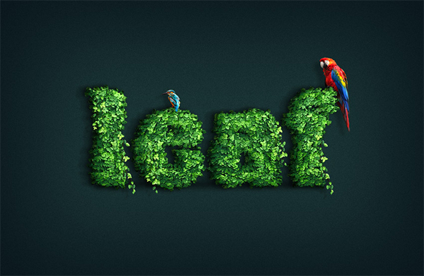 How to Create a Leaf-Covered Text Effect Action in Adobe Photoshop