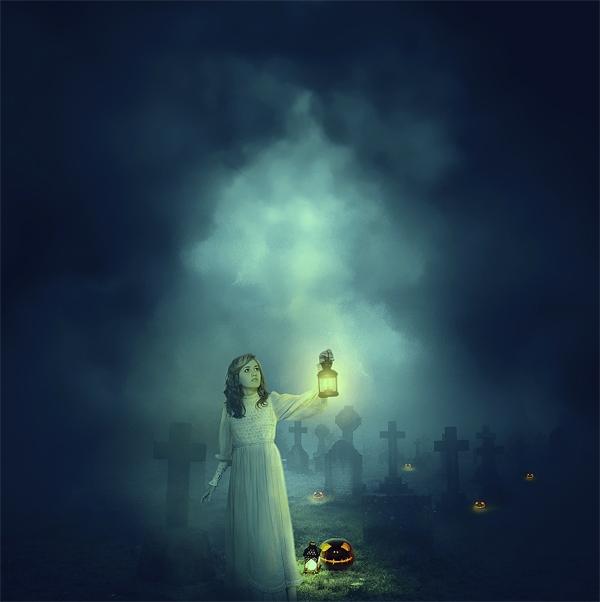Lost in the dark photo manipulation