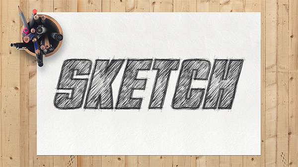 How to Create a Sketch Text Effect Action in Adobe Photoshop