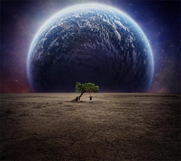 The Moon Photo Manipulation