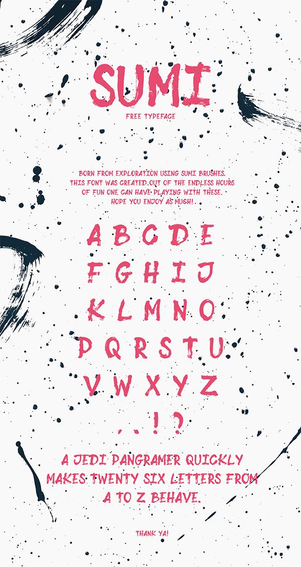 Stylish Sumi Free Font