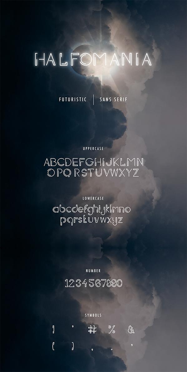 Halfomania Free Font