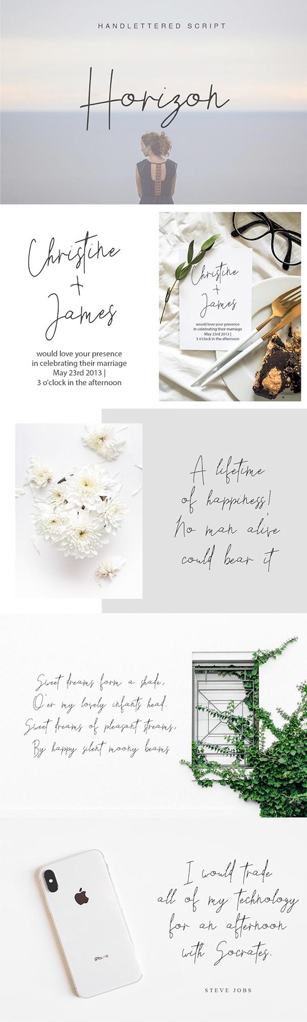 Horizon Handletter Script Free Font
