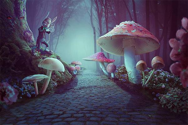 How to Create a Wonderland Photo Manipulation With Adobe Photoshop