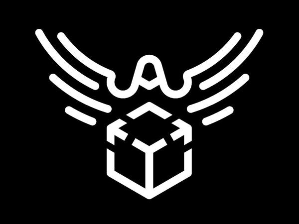 Bird With Parcel Logo Design