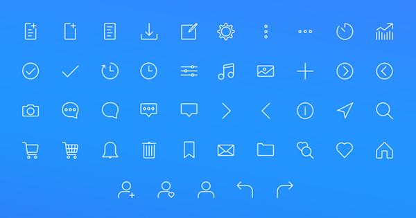 Web - Stroke Icon set + Icon Set