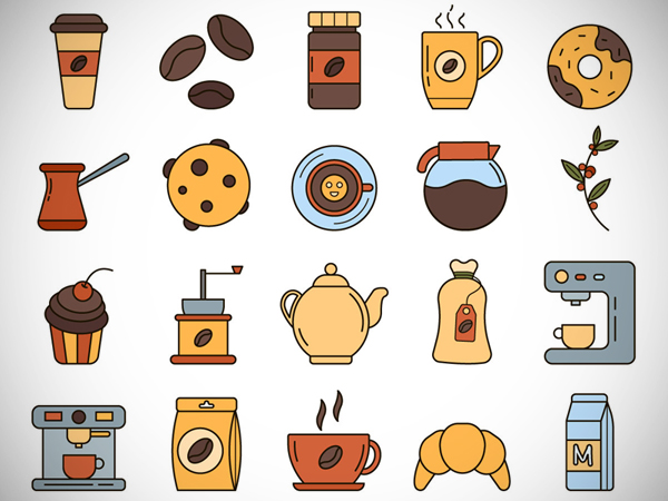Coffee Vector Freebie Icon Set