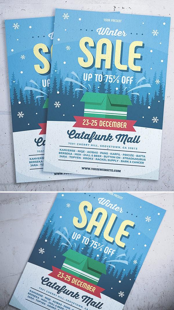 Retro Winter Sale Flyer