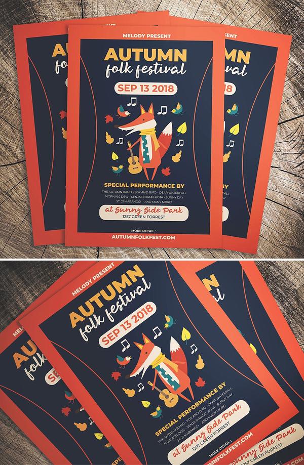 Autumn Folk Fest Flyer