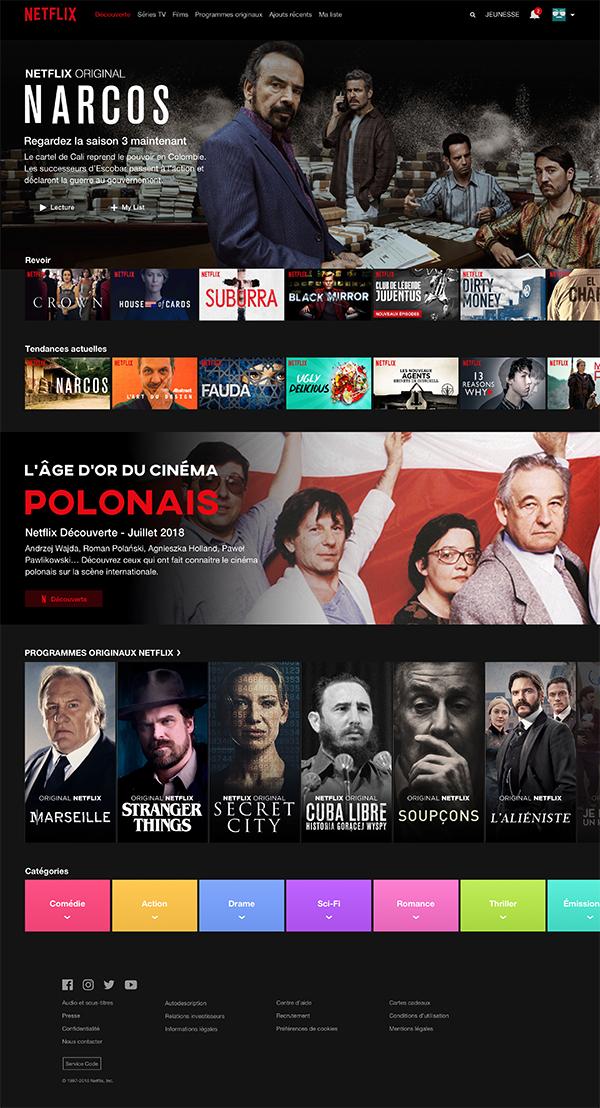 Freebie   Netflix Desktop UI