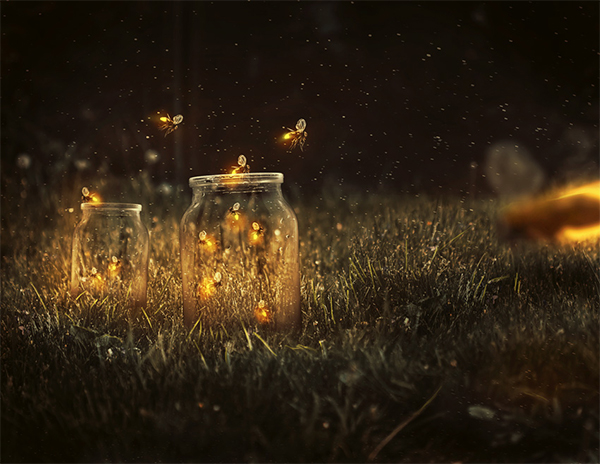 How to Create a Glowing, Fireflies Photo Manipulation in Adobe Photoshop
