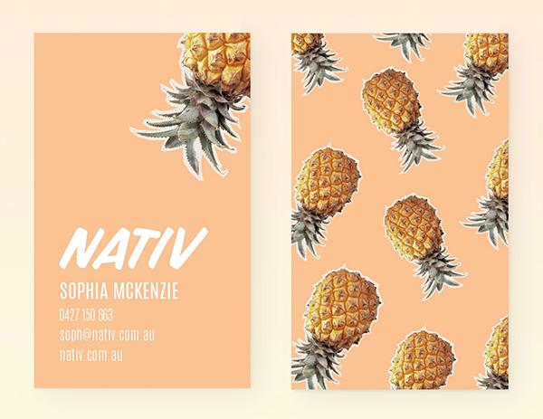 Nativ Pineapple Business Card