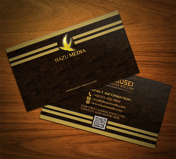 Simple Gold Bussiness Card