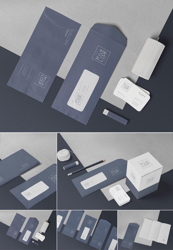 Vertical Envelope Mockups