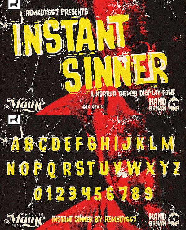 Fuente de pantalla Instant Sinner