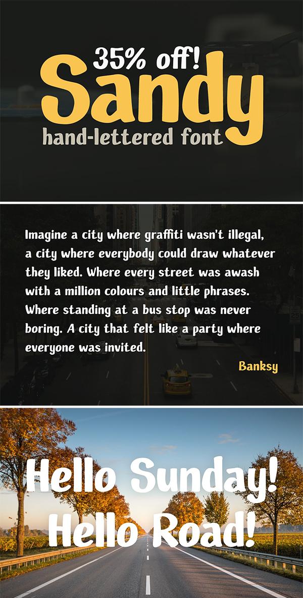 Fuente Sandy Hand Letter ed