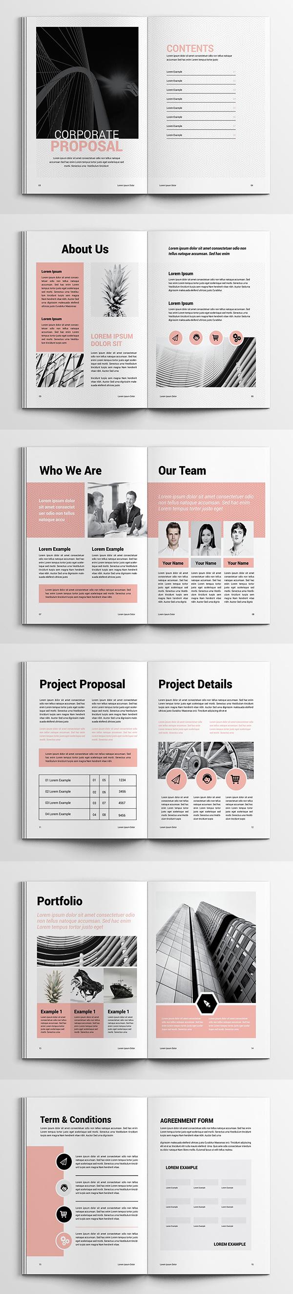 Clean Proposal Brochure Template