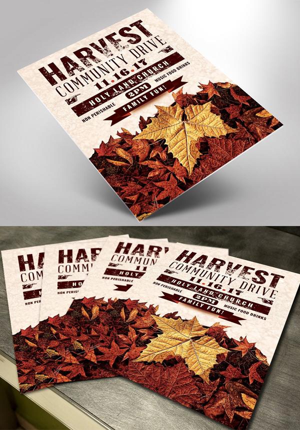 Fall Harvest Community Drive Flyer