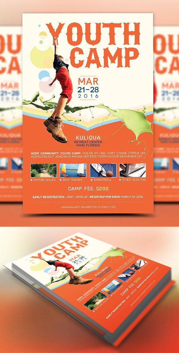 Youth Camp Flyer Template