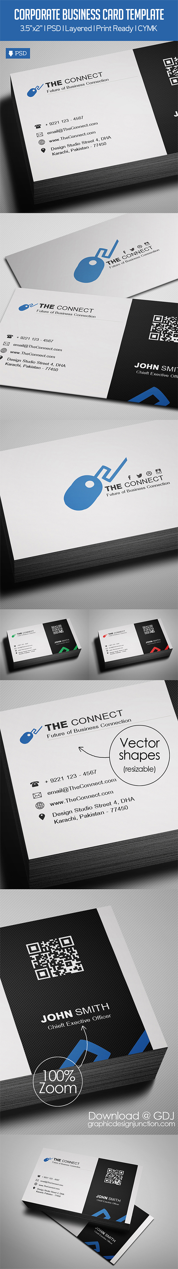 Awesome & Stylish Business Card Template Free Download (PSD)