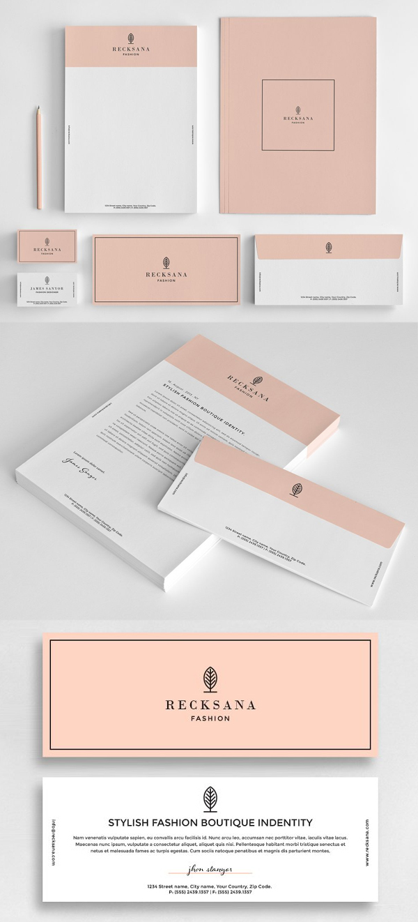 Stylish stationery set