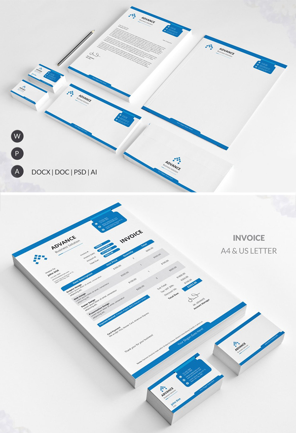 Clean Modern Corporate Identity / Stationery Pack