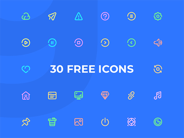30 General Icons Free