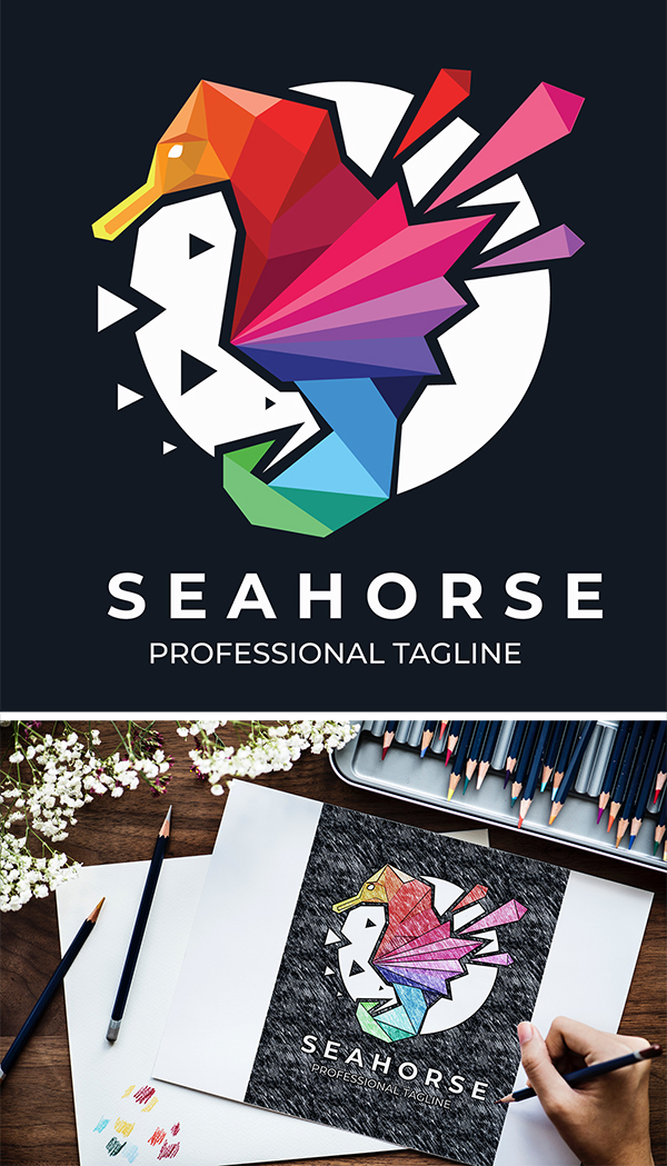 Sea Horse Logo Design