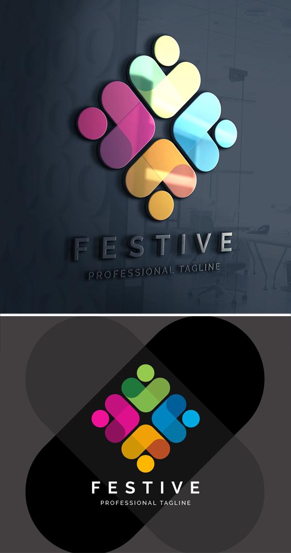 Festive Logo Design