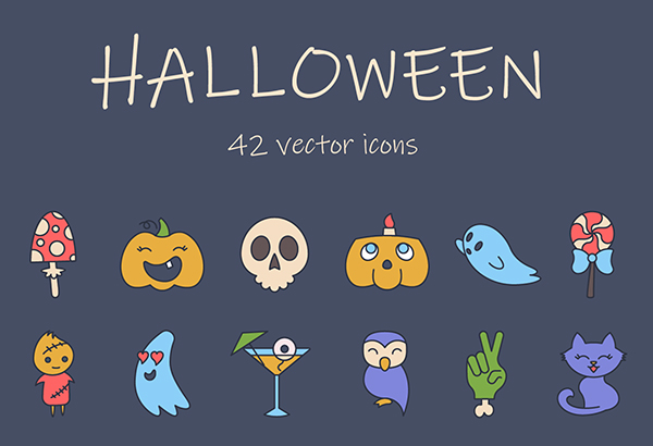 Halloween freebie icon set