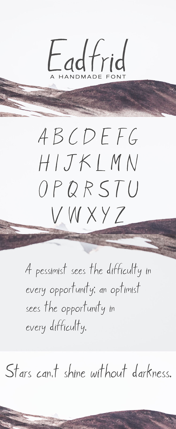Eadrifd Handmade Free Font