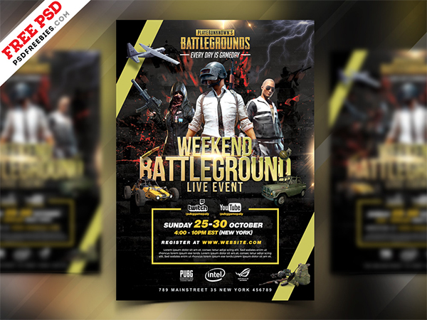Tournament Flyer PSD Template