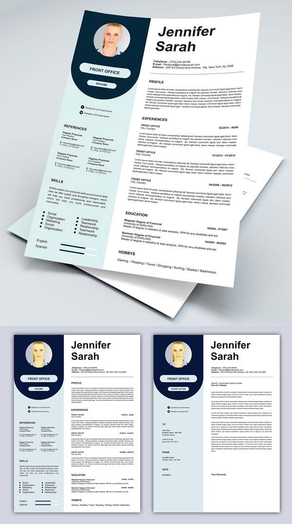 Resume Cover Letter (Pastel Colors)