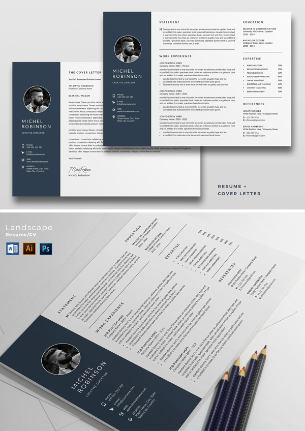 Landscape Resume / CV Template