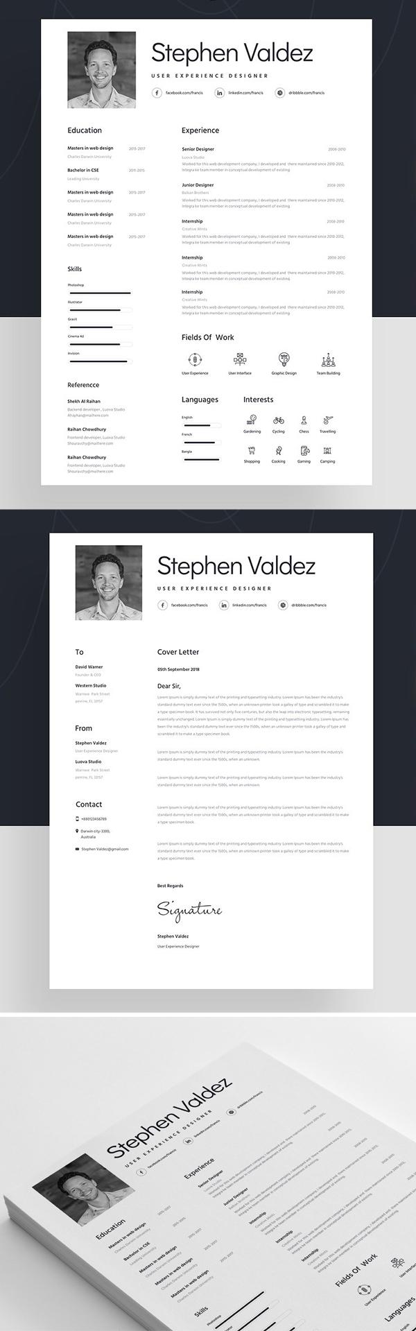Resume Template For Designer