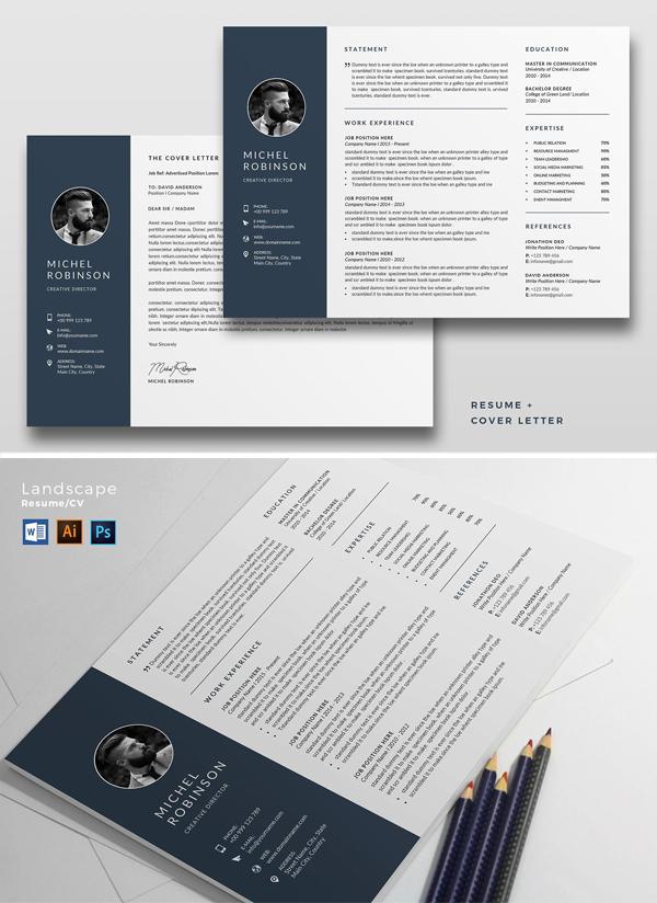 Landscape Resume/CV Template