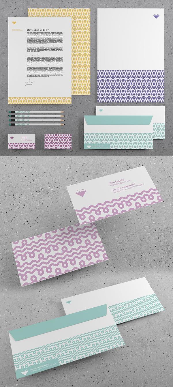 Branding Stationery PSD mock-up