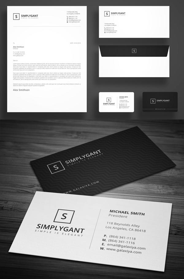 Simple Minimal Corporate Stationery