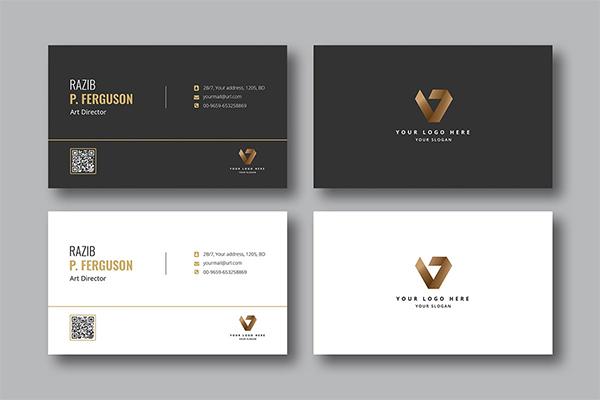 Black & White Business Card Template Design