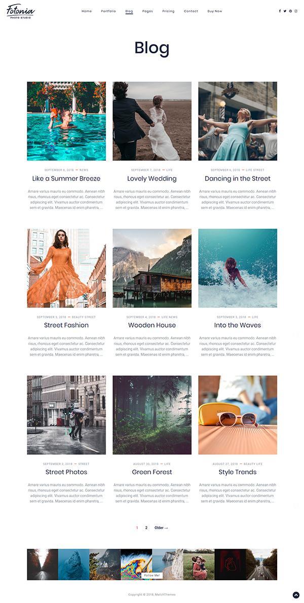 Fotonia - Portfolio Photography Theme for WordPress